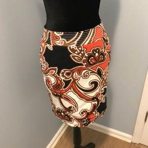 Paisley Multi Colored pencil skirt